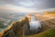 Panoramic view of rocks on the beach - INGF11464