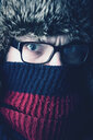 Portrait of a cold man wearing glasses - INGF11650
