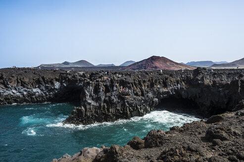 Spain, Canary Islands, Lanzarote, Los Hervideros - RUNF00589