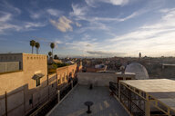 Morocco, Marrakesh, Old town in the evening - LMJF00081