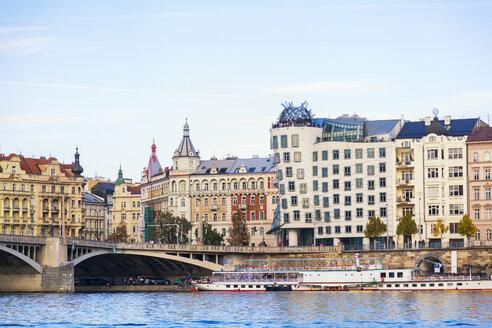 Czechia, Prague, Old town, Vltava river and bridge - JUNF01655