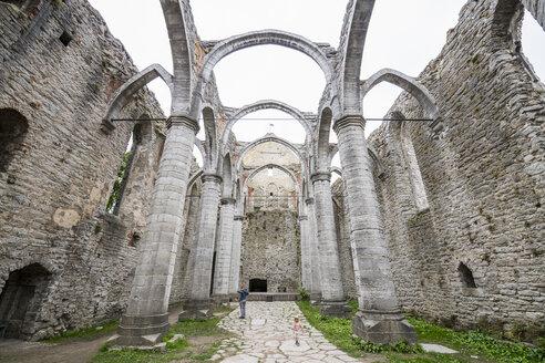 Sweden, Gotland County, Visby, Ruin of St. Nicholas' church - RUNF00755