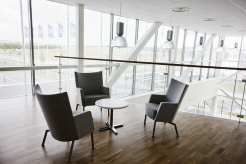Empty chairs and table in contemporary office - ASTF00790