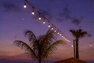 String lights glowing outdoors,Changgu, Bali, Indonesia - AURF08156