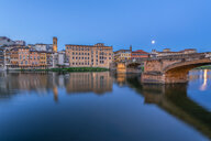 Italy, Tuscany, Florence, Ponte Vecchio at blue hour - RPSF00268