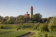 Germany, Ruegen, Cape Arkona, Cape Arkona Lighthouse and Schinkel Tower - MAMF00263