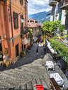 Italy, Lombardy, Bellagio, Old town, Lake Como, alley - AM06613