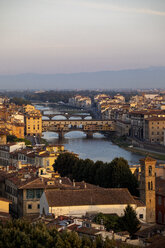 Italy, Florence, Ponte Vecchio in the morning light - MRAF00360