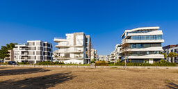 Germany, Ludwigshafen, Rheinufer Sued, development area with  new built multi-family houses - WDF04994