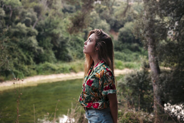 Young woman surrounded by nature. Barcelona, Catalonia, Spain. - LOTF00030