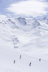 Skigebiet, Les Menuires, Trois Vallees, Französische Alpen, Frankreich - SKAF00122