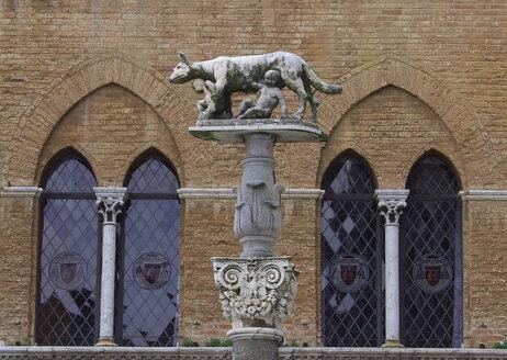 Italy, Tuscany, Siena, Cattedrale di Santa Maria Assunta, Romulus and Remus sculpture - WWF04729
