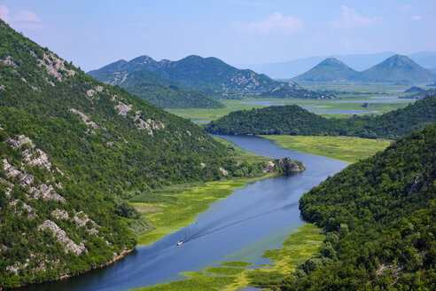 Montenegro, river Crnojevic and Lake Skadar seen from Pavlova Strana lookout - SIEF08303