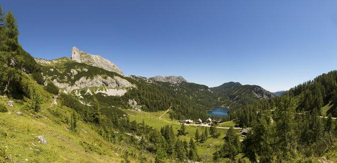 Austria, Styria, Tauplitz, Totes Gebirge, Lake Steirersee - WWF04778