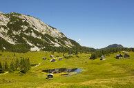 Austria, Styria, Tauplitz, Totes Gebirge, Alpine cabins - WWF04781