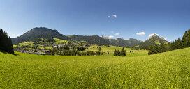 Austria, Styria, Ausseerland, Tauplitz with view to Tauplitzalm - WWF04784