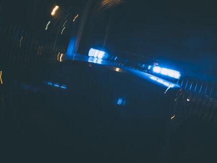 Police emergency lights. Madrid Spain. - OCMF00209