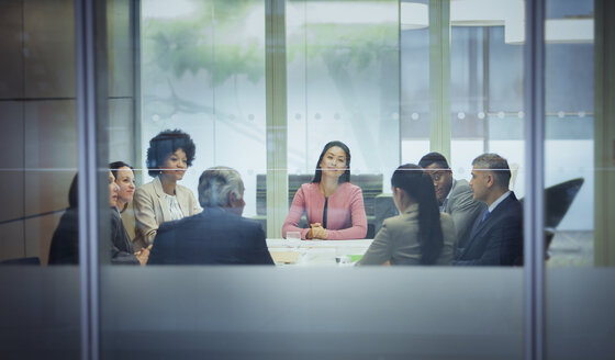 Business people in conference room meeting - HOXF04282