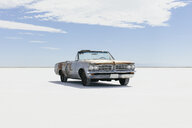 Old Pontiac convertible parked on Salt Flats - MINF10016