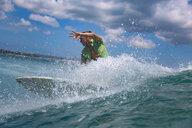 Indonesia, Bali, Kuta beach, surfer - KNTF02593