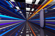 Architecture visualization of a futuristic passageway, 3D Rendering - SPCF00316
