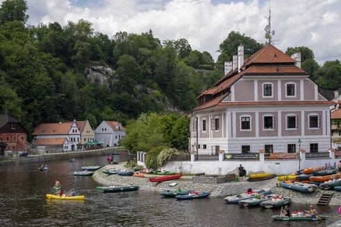 Czechia, Cesky Krumlov, view to Vitava River - BFR01963