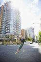 Ballerina dancing in urban street - HEROF04150