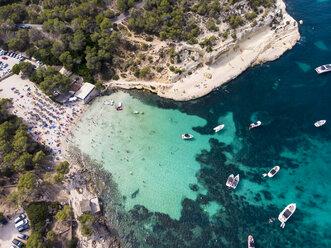 Spain, Mallorca, Palma de Mallorca, Aerial view of Calvia region, El Toro, Portals Vells - AMF06642