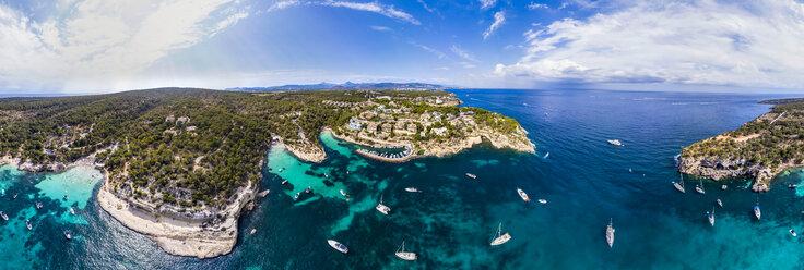 Spain, Mallorca, Palma de Mallorca, Aerial view of Calvia region, El Toro, Portals Vells - AMF06645