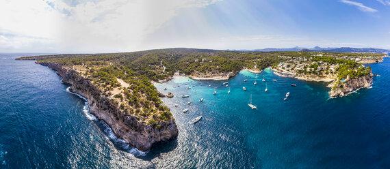 Spain, Mallorca, Palma de Mallorca, Aerial view of Calvia region, El Toro, Portals Vells - AMF06648
