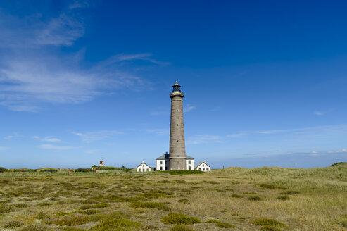 Denmark, Jutland, Skagen, Grenen, grey lighthouse - UMF00896