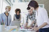 Creative business people meeting in office - HEROF04231
