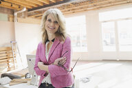 Portrait of confident businesswoman in new office - HEROF04501
