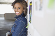 Portrait of confident businesswoman in new office - HEROF04591