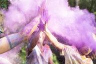 People celebrating Holi, Festival of Colors - ERRF00528