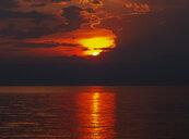 Croatia, Krk island, sunset above the Adriatic Sea - WWF04831