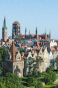 Poland, Gdansk, Overlook over the old town center - RUNF00900