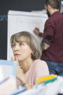 Portrait of pensive mature woman in the office - VGF00169