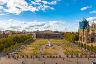 Germany, Berlin, Berlin-Mitte, Museumsinsel, Pleasure Garden and Old Museum, Berlin Cathedral right - TAMF01108