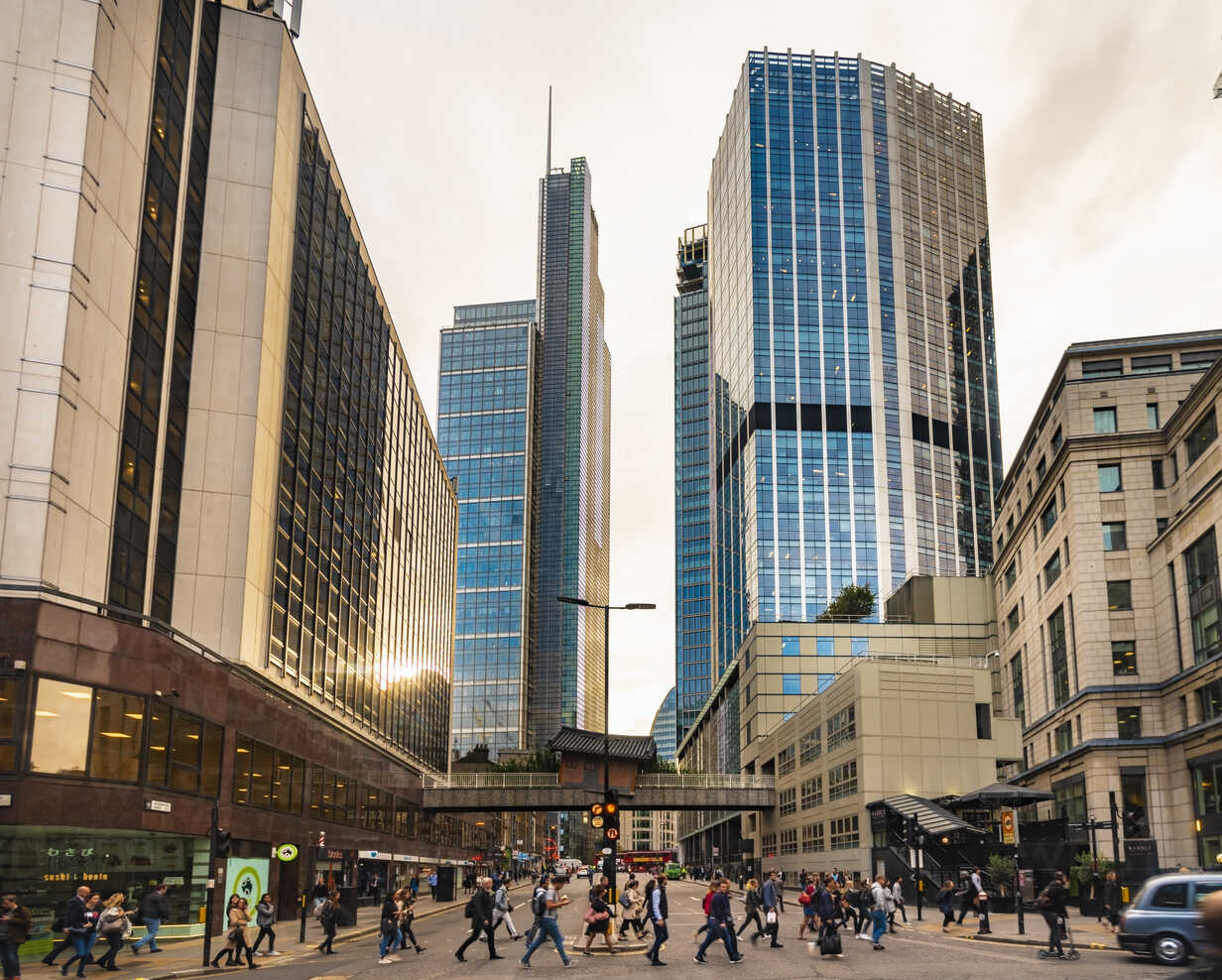 United Kingdom, England, London, modern financial disctrict, Liverpool street - TAMF01126 - A. Tamboly/Westend61