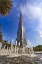 United Arab Emirates, Dubai, Burj Khalifa and fountain - SMAF01167