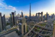 United Arab Emirates, Dubai, Burj Khalifa, cityscape in the evening - SMAF01170