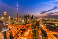 United Arab Emirates, Dubai, Burj Khalifa at sunset - SMAF01173