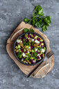 Bowl of beetroot salad with avocado, feta, walnuts and parsley - SARF04053
