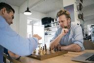 Two men playing chess - JOSF02829