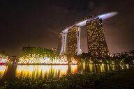 Singapore, Marina Bay Sands Hotel at night - SMAF01176