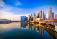 Singapore, Financial district, High rise buildings in the evening - SMAF01188