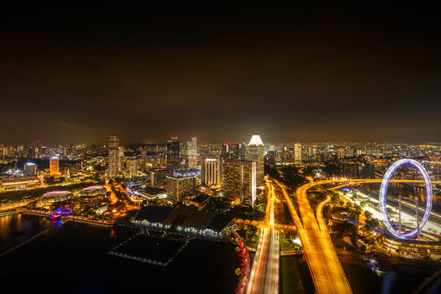 Singapore, cityscape at night - SMAF01209