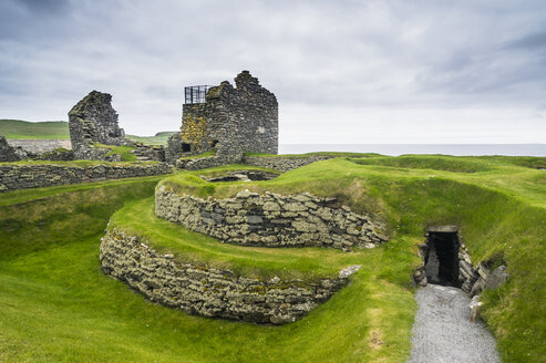 United Kingdom, Scotland, Shetland Islands, Mainland, Jarlshof prehistoric archaeological site - RUN00970
