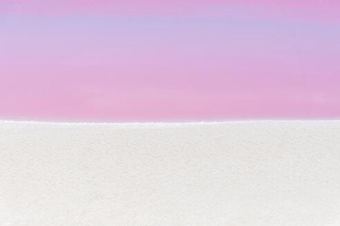 Mexiko, Yucatan, Las Coloradas, Pink Lake salt lake - MMAF00749